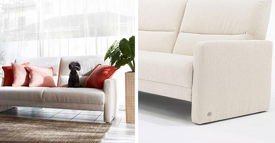 座り心地と耐久性を シンプルなデザインで実現したソファ