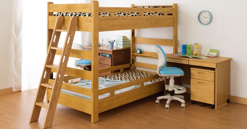 組合せで2段ベッドにも