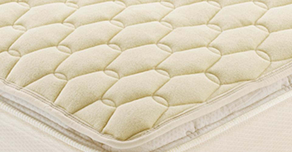 吸湿発散性に優れた羊毛を使用したベッドパッド