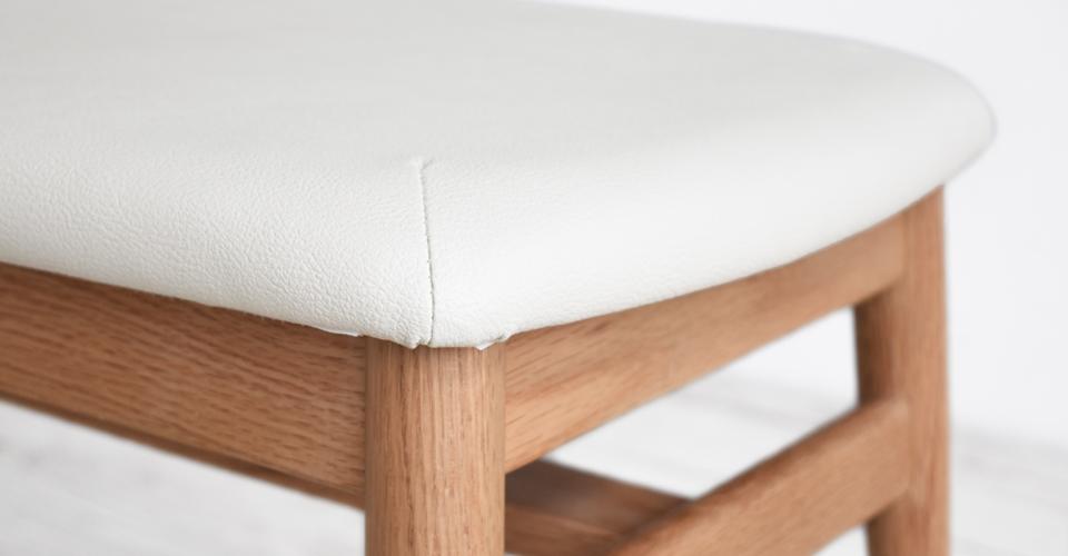 ■レッドオーク材/ホワイトオーク色/PVCアイボリー色