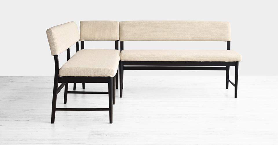 ■片肘背付きベンチ+背付きベンチ