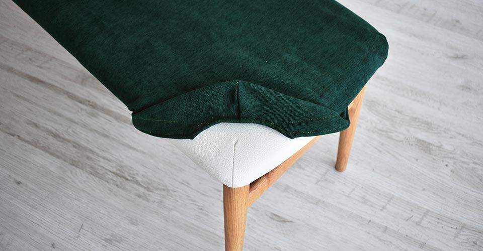 ■カバーグリーン色Xレッドオーク材ホワイトオーク色