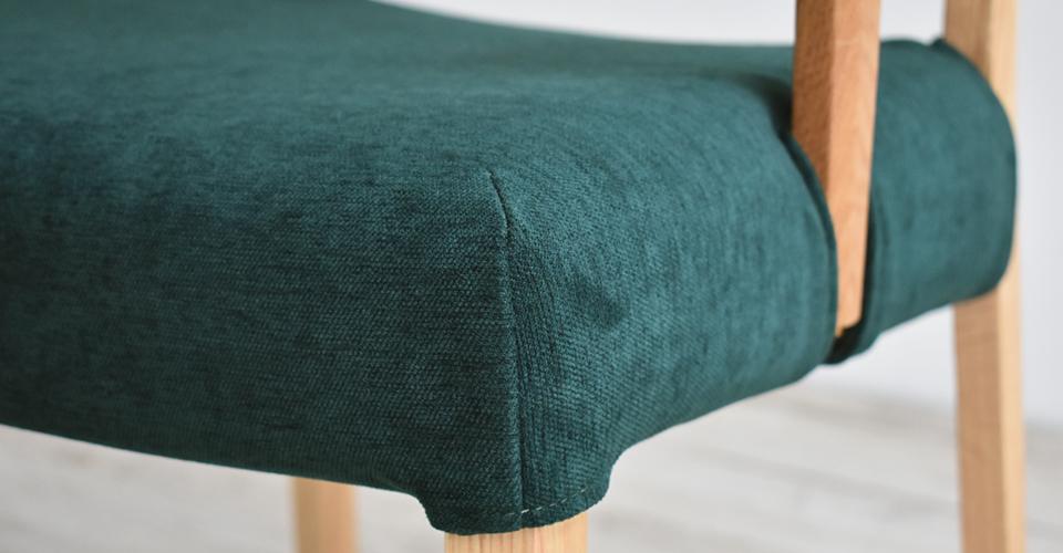 ■カバーグリーン色Xレッドオーク材/ホワイトオーク色