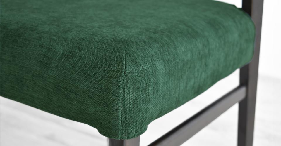 ■カバーグリーン色Xラバーウッド材ダークブラウン色