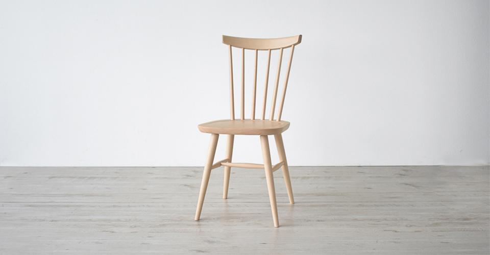 秋田木工の新作椅子~【ハンナチェア】