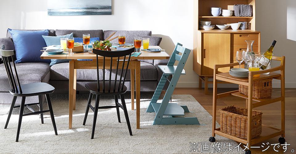 簡単に伸長できる機能的なテーブル「ビエンナ」