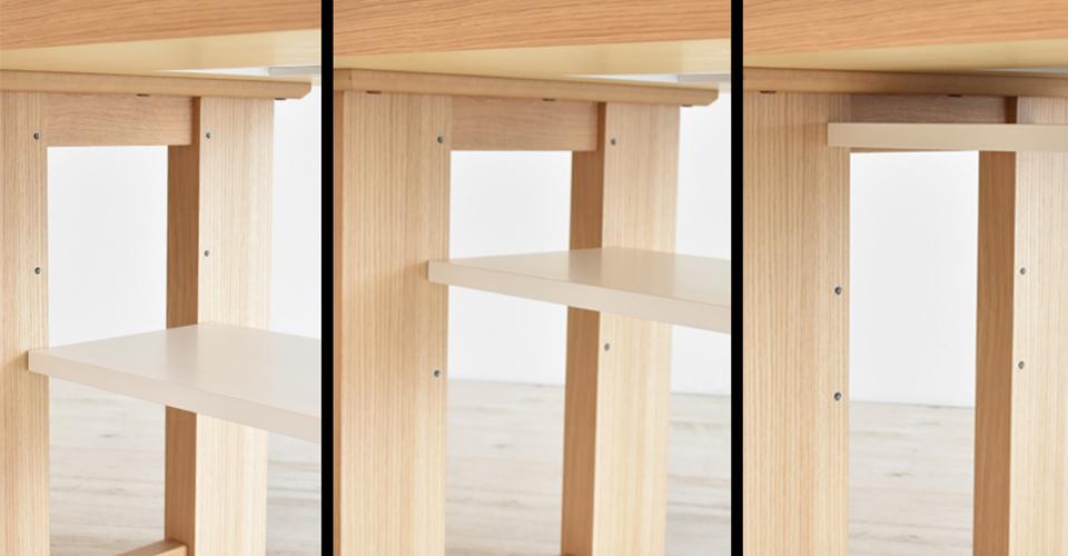 高さ調整できる可動式棚板