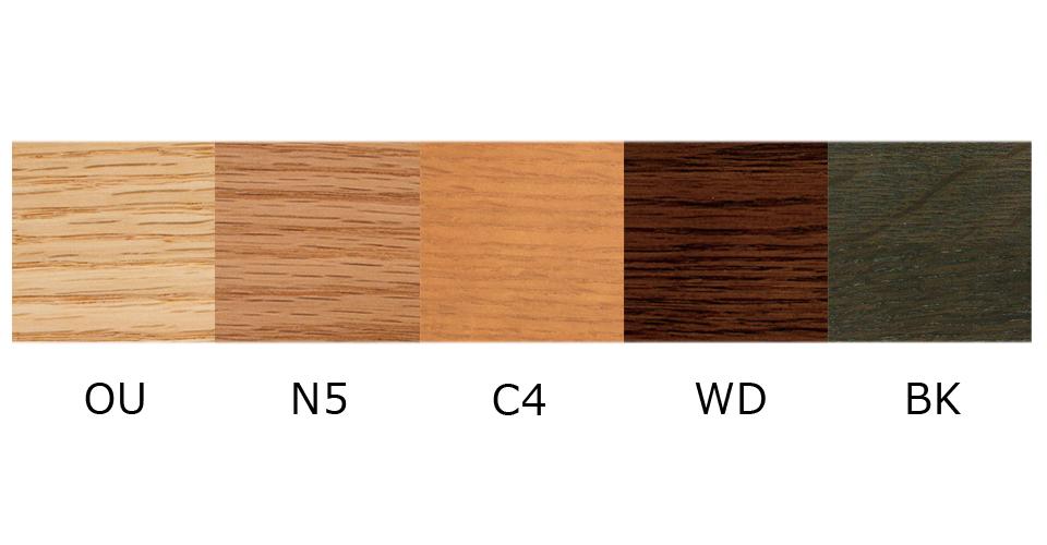 レッドオーク材カラーサンプル