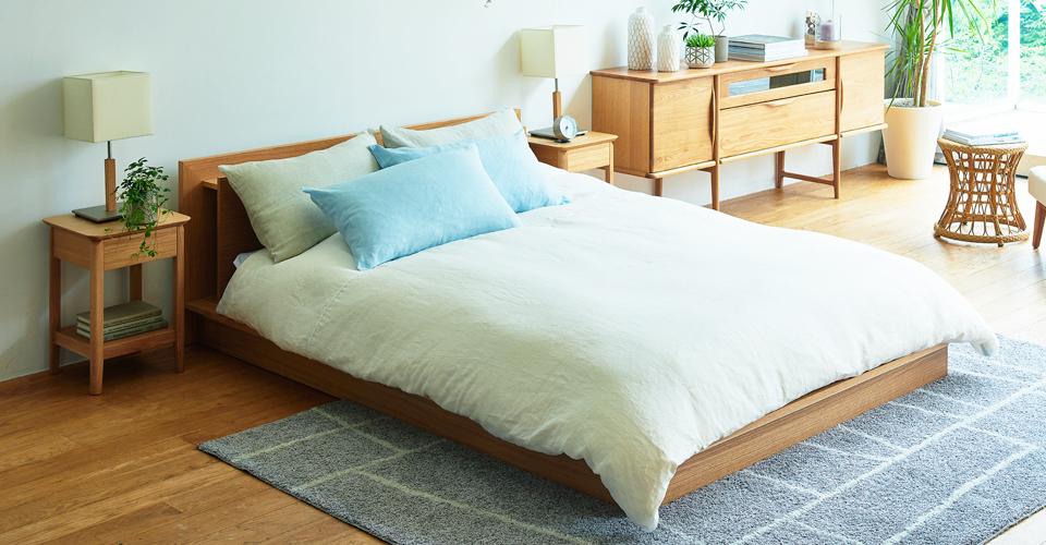 ~夏を快適に過ごす「リネン」の寝具~