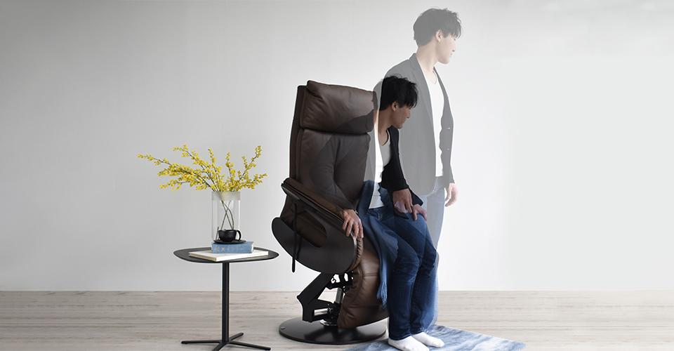 「立つ」・「座る」をサポートする昇降機能