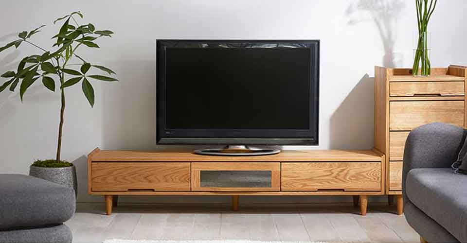 美しい木目が魅力のテレビボード「ノーラ」