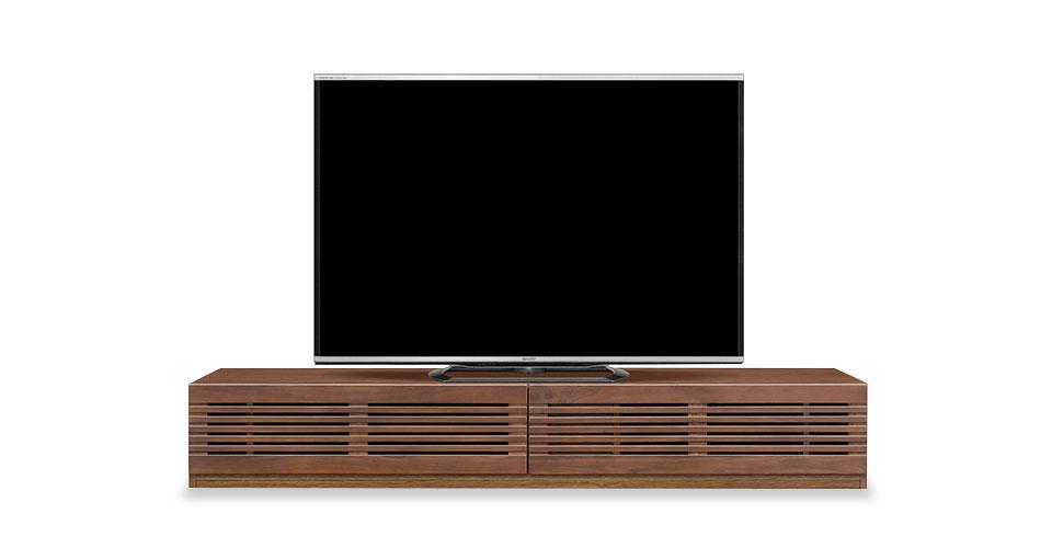 細かい仕切りの収納でテレビまわりもすっきり「セルマ」